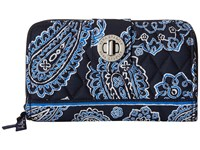 Vera Bradley Turn Lock Wallet Blue Bandana Wallet Handbags
