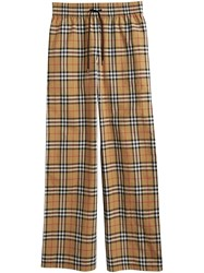 Burberry Vintage Check Drawcord Trousers Neutrals