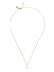 Kate Spade Dainty Sparklers Wishbone Pendant Gold