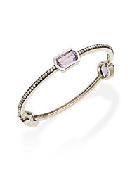 Stephen Dweck Toledo Amethyst And Sterling Silver Bangle Bracelet