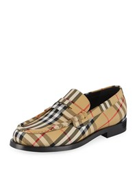 Burberry Moore Signature Check Penny Loafer Yellow