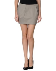 Gold Case Mini Skirts Light Grey