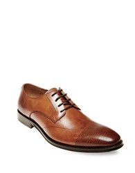 Steve Madden Pasage Leather Oxfords Tan