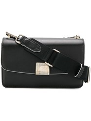 Golden Goose Deluxe Brand Long Foldover Shoulder Bag Black