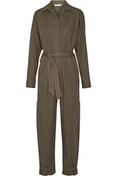 Helmut Lang Cotton Jumpsuit Army Green