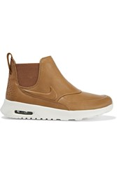 Nike Air Max Thea Leather Slip On Sneakers Tan