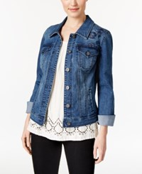 Styleandco. Style Co. Floral Embroidered Denim Jacket Only At Macy's Camino