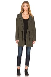 Dolan Cowl Back Parka Jacket Green