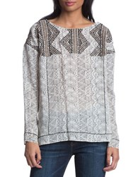 Plenty By Tracy Reese Embroidered Boyfriend Top Ecru