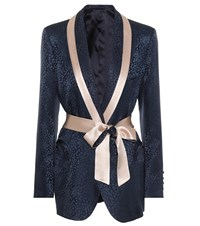 Blaze Milano Exclusive To Mytheresa.Com Silk Jacquard Blazer Blue