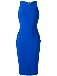 Thierry Mugler Cut Out Detail Dress Women Polyamide Spandex Elastane Viscose 38 Blue