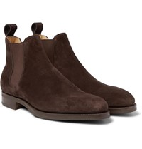 Edward Green Camden Suede Chelsea Boots Brown