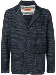 Missoni Embroidered Fitted Blazer Blue
