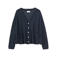 Toast Wool Cardigan Navy