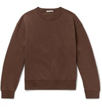 Our Legacy Fleece Back Cotton Blend Jersey Sweatshirt Brown