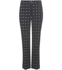 Givenchy Printed Crepe Trousers Black