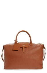 Sole Society Joliie Travel Tote Brown Cognac
