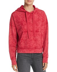 Kenneth Cole Cropped Hoodie Cerise