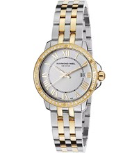 Raymond Weil 5391 Sps 00995 Tango Yellow Gold Stainless Steel Mother Of Pearl And Diamond Watch
