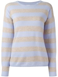Chinti And Parker Striped Jumper Blue