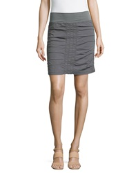 Xcvi Trace Ruched Mini Skirt Gray