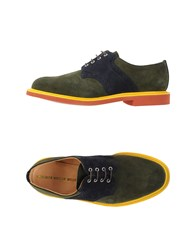 Woolrich Woolen Mills Footwear Lace Up Shoes Men Dark Green