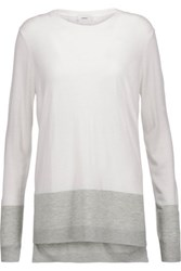Vince Two Tone Knitted Sweater Off White
