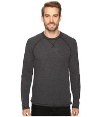 Agave Meridian Long Sleeve Slub Doubleface Black Men's Long Sleeve Pullover
