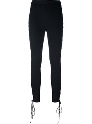 Unravel Side Lace Up Trousers Black