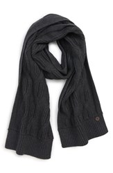 Ted Baker London Cable Knit Scarf Charcoal