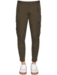 Dsquared 16Cm Sexy Cargo Stretch Twill Pants Military Green