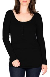 Nom Maternity Women's Ruched Long Sleeve Top