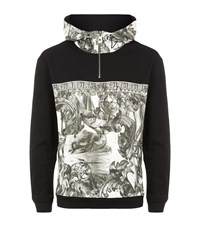 Versace Collection Baroque Half Zip Hoodie Male White