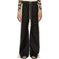 Rick Owens Drkshdw Black And Off White Easy Pushers Trousers