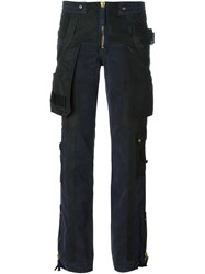 Jean Paul Gaultier Vintage Military Trousers Blue