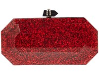 Marchesa Footwear Red Black Glitter Special Occasion Handbags