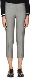 Thom Browne Grey Cropped Trousers