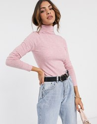 River Island Roll Neck Sweater In Pink