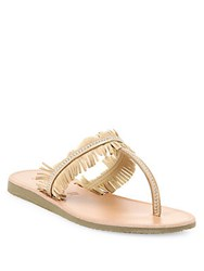 Joie Maisie Studded Fringe Thong Sandals Sabbia