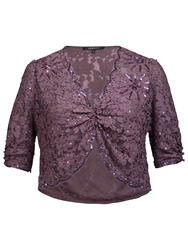 Chesca Beaded Lace Bolero Haze