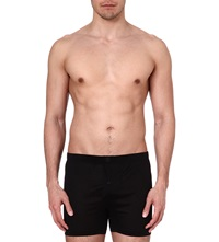 Zegna Cotton Boxer Shorts Black