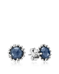 Pandora Design Pandora Stud Earrings Sterling Silver And Cubic Zirconia Midnight Star