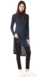 Splendid Waffle Knit Tunic Heather Navy