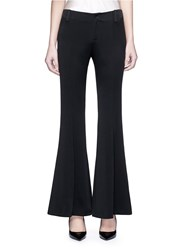 Ms Min Satin Flare Pants Black