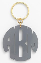 Women's Moon And Lola Personalized Monogram Key Chain Grey Gunmetal