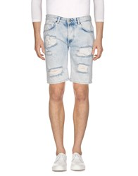 Solid Denim Bermudas Blue