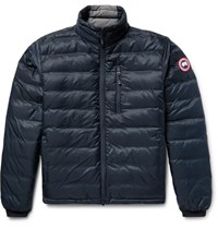 Canada Goose Lodge Packable Quilted Ripstop Down Jacket Storm Blue