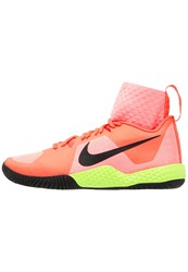 Nike Performance Court Flare Outdoor Tennis Shoes Lava Glow Black Hyper Orange Volt Black