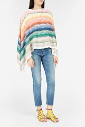 Missoni Women S Fringed Striped Poncho Boutique1 Multi