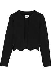 Issa Millie Stretch Jersey Cardigan Black